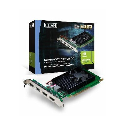 エルザ GD730-1GERQD [ELSA GeForce GT 730 1GB QD]NVIDIA GeForce GT 730 GPU搭載 グラフィックスボード(4524076040594)...