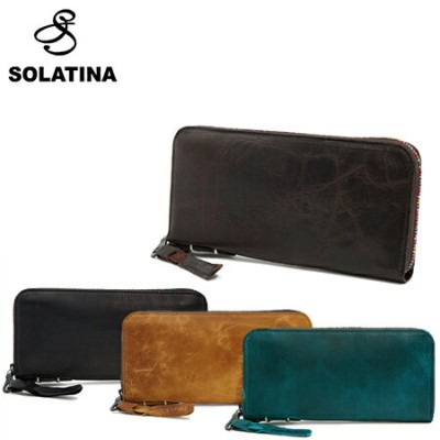 SOLATINA ソラチナ 長財布 38153 焦げ加工ホースレザー ラウンドファスナー ロングウォレット 全4色 【SCORCHED HORSE LEATHER LONG WALLET ROUND...