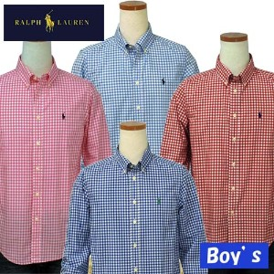 POLO by Ralph Lauren Boy'sラルフローレンギンガムチェック長袖シャツ【2015-Spring/NewColor】【ラルフローレン ボーイズ】