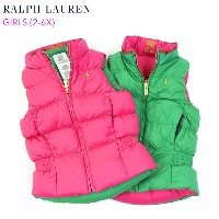 (2-6X) POLO by Ralph Lauren GIRLS (2-6X) Reversible Down Vest USラルフローレン ガールズ用 ダウンベスト