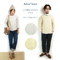 (SALE 40%OFF) 【アヘヘ】 Ahe'hee Men's&Lady's #ONIURAKE crew C.POINT Exclusive鬼裏毛 プルオーバーカットソー シーポイント別注...
