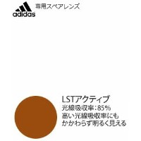 adidas スポーツサングラス tycane pro a189L/a190S専用スペアレンズ LSTアクティブ H(af)(左右1組)