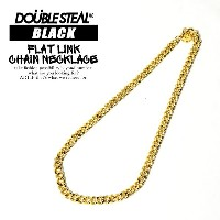 DOUBLE STEAL BLACK(ダブルスティールブラック) FLAT LiNK CHAiNE NECKLACE 【メンズ レディース ネックレス チェーン】 ストリート メール便可