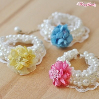 ★Wooflink★(ウーフリンク)SPRING MOMENTS NECKLACE犬用パールネックレス