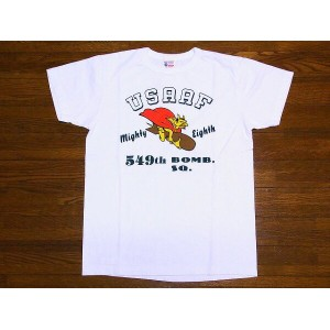 Buzz Rickson's[バズリクソンズ] Tシャツ 549th BOMB. SQ. BR77035 (WHITE)