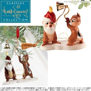 WDCC チップ&デール サンタ キャンドル オーナメント プルートのクリスマス ツリー Chip n Dale Little Mischief Maker and Santa Candle...