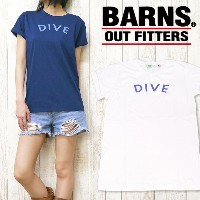 nrab BARNS Tシャツ 半袖 プリント 「DIVE」 Made in USA USA製 コットン レディース NB-3414