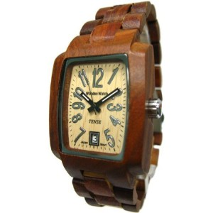テンス 時計 メンズ 腕時計 木製 Tense Mens Solid Sandalwood Day Time Hypoallergenic Watch J8102S Light Face