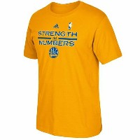 2015 NBAプレーオフ ウォリアーズ スローガンTシャツ adidas Golden State Warriors Gold 2015 Playoffs Slogan T-Shirt