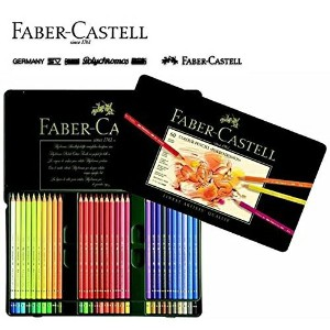 【FABER-CASTELL】ポリクロモス色鉛筆セット60色缶入