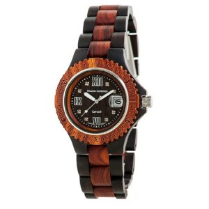 テンス 時計 メンズ 腕時計 木製 Tense Mens Two Tone Round Sport Wooden Watch Roman Numeral G4100DS RNDF