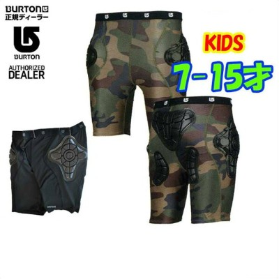 15-16 BURTON バートン KIDS スノー プロテクター 【Youth Total Impact Short Protected By G-Form 】キッズ 【7-15才】小中学生向け ...