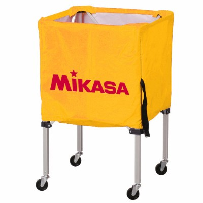 MIKASA ミカサ ボールカゴ 3点セット 箱型 小 イエロー BC-SP-SS-Y 【取り寄せ品】