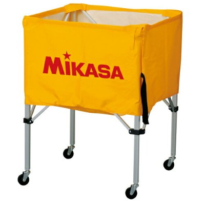 MIKASA ミカサ ボールカゴ 3点セット 箱型 中 イエロー BC-SP-S-Y 【取り寄せ品】