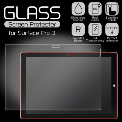 Glass Screen Protecter for Surface Pro 3 / 液晶 保護 強化 ガラス フィルム シート シール エッジ加工
