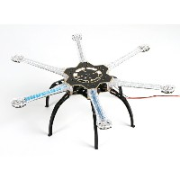 H550 V4 Pro LED Hexcopter Frame with Integrated PCB 550mm