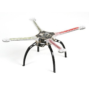Q500 LED Quadcopter Frame with Integrated PCB 480mm (Red, Green)