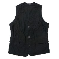 FREEWHEELERS フリーホイーラーズ DYLAN MEDIUM WEIGHT MOLESKIN VEST YARN-DYED DEEP BLACK