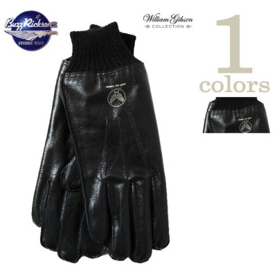 【 BUZZ RICKSON'S(バズリクソンズ) 】 A-10 LEATHER GLOVE [ BLACK BLACK RIB ] 【 William Gibson Collection 】...