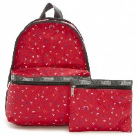 【60%OFF★送料無料】LeSportsac 7812-D636 Basic Backpack(ベーシックバックパック)LOVE DROPS RED リュックサック レスポートサック【新品】