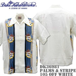 Duke Kahanamoku(デューク カハナモク)アロハシャツ HAWAIIAN SHIRT SPECIAL EDITION / PALMS & STRIPE DK36981-105 Off...