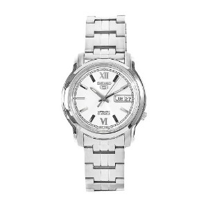 Seiko セイコー メンズ 腕時計 Men's SNKK77 5 Stainless Steel White Dial Watch