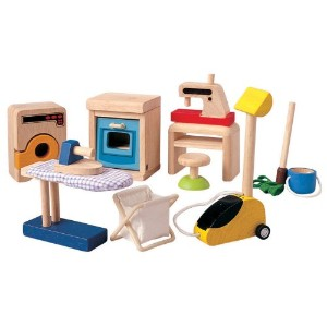 Plan Toys プラントイズ ドールハウス アクセサリーキット Doll House Household Accessories Set