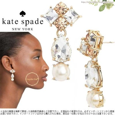 Kate Spade ケイトスペード トゥインキング フェット ステートメント ピアス twinkling fete statement drop パール 正規品 □