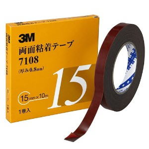 3M(スリーエム) 車輌外装用 両面粘着テープ 15mm×10m [7108]