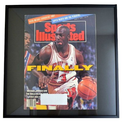 NBA ブルズ マイケル・ジョーダン フォトフレーム Photo Frame in Sports Illustrated 1991/6/3