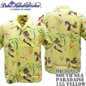 Duke Kahanamoku(デューク カハナモク)アロハシャツ HAWAIIAN SHIRT SPECIAL EDITION / SOUTH SEA PARADAISE DK36982-155...