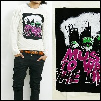 RELIGION レリジョン 長袖 Tシャツ「MUSIC NO WAR THE DEAD」