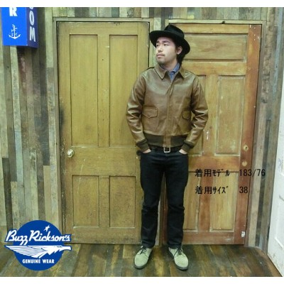 """No.BR80412 BUZZ RICKSON'S バズリクソンズtype A-2""""POUGHKEEPSIE LEATHER COAT CO.INC"""""""
