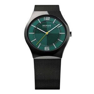 BERING Mens Sapphire Glass Titanium Polar Night Cross(32039-223 グリーン×ブラック)