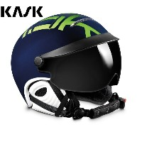 '17KASK(カスク)ゴーグル付ヘルメット「ヘルメットバイザーSTYLE」Navy×Lime(SHE00029.332)【全国送料無料】