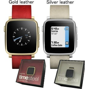 Pebble Time Steel(ぺブルタイムスチール)【iPhone/android用スマートウォッチ】