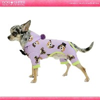 ducie Love puppy rompers (heat wan)【あす楽】