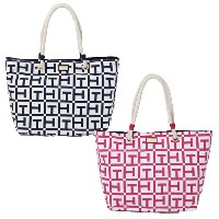 【【TOMMY HILFIGER トミーフィルフィガー】トートバッグ キャンバス ROPE TOTE TOTE LG SIG PRINTED CANVA【あす楽対応】