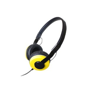 Zumreed ZHP-500 Compact Foldable ステレオ Headphones, イエロー 『海外取寄せ品』