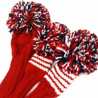 Jan Craig Red White Stripe Headcover Sets【ゴルフ アクセサリー>ヘッドカバー】