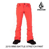 2015 VOLCOM ボルコム パンツ WOMEN'S BATTLE STRETCH PANT FCR