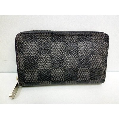 【LOUIS VUITTON】ルイ・ヴィトン ダミエグラフィット ジッピー・コイン パース N63076【中古】