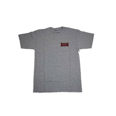 BRIXTON / RAMSEY S/S TEE HAETHER GREY/WHITE ブリクストン プリント Tシャツ