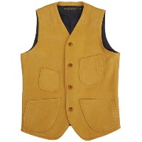 FREEWHEELERS フリーホイーラーズ DARIUS VEST DEER SKIN GREAT LAKES GMT. MFG.Co. YELLOW OCHRE