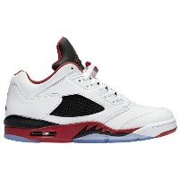 Jordan Retro 5 Low メンズ White/Fire Red/Black ジョーダン バッシュ