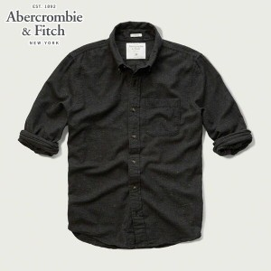 アバクロ Abercrombie&Fitch 正規品 メンズ 長袖シャツ MUSCLE FIT TEXTURED COLOR SHIRT 125-125-0247-013