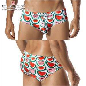 【CLEVER2016-1】 CLEVER クレバー Watermelons Swimsuit Brief Ref,0607 CLEVER スイムパンツ 【男性下着 水着 ボクサー メンズ Men...