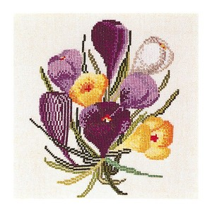 Thea Gouverneur クロスステッチ刺繍キットNo.813 「Crocus」(クロッカス 花) オランダ テア・グーヴェルヌール 【取り寄せ/納期40~80日程度】