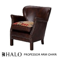 HALO PROFESSOR ARM CHAIR BROWN W68cm×D71cm×H73cm ハロー プロフェッサー アーム チェア 1人掛け ソファ ブラウン ヴィンテージ アンティーク...