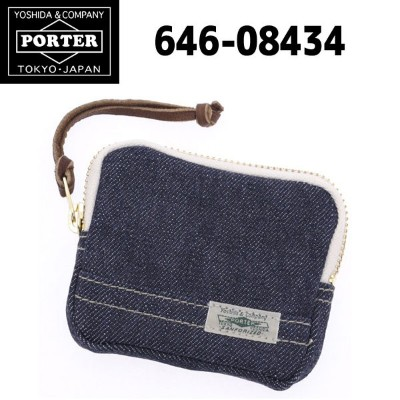 吉田かばん PORTER SANFORIZED DENIM(W95XH75XD15)MULTI POUCH ( マルチポーチ ) 50 INDIGO BLUE ( インディゴ ブルー ) (...